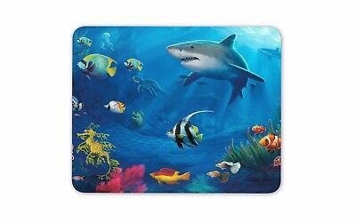 Underwater World Mouse Pad Mat - Shark Fish Diving Coral Computer PC Gift #8080