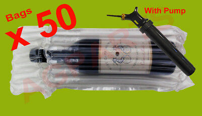 Inflatable Air Packaging  Bubble Pack  Wrap Bag For Wine Bottle X 50 With Pump
