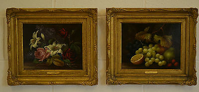 A Very Fine Pair Of 19th Century Still Lifes Oil On Board / Panel Edwin Steele