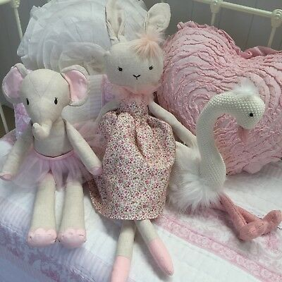 Large Girls Betty Bunny Doll Toy Shabby Chic Bedroom Nursery Decor