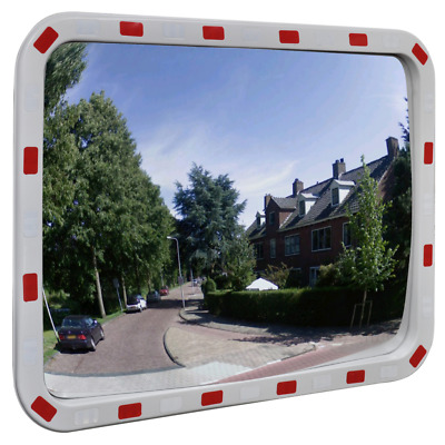 """Rectangular Traffic Convex Mirror Outdoor Security & Safety w/ Reflector 31""""L"""