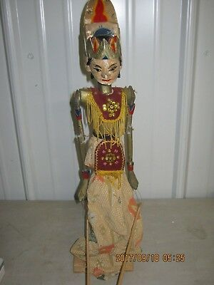 VINTAGE Chinese Folk culture  Wood Carved Puppet MARIONETTE Oriental