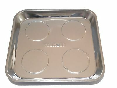 Large Magnetic Stainless Steel Tray Dish Tool Parts Holder Storage 10.5 x 11.5""