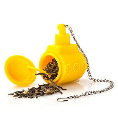 Yellow Submarine Shaped Funny Silicone Tea Diffuser Infuser Leaf Strainer Filter