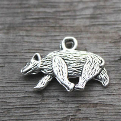 20pcs HP Hufflepuff Emblem charm badger charm in silver tone 21x15mm