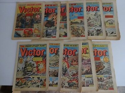 Victor comic 11 issues from 1978. Vintage Job Lot.