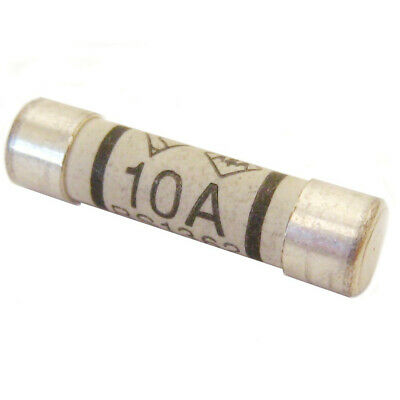10 Amp Domestic 240V Household Mains Plug Fuse, Electric Cartridge - Pack of 4
