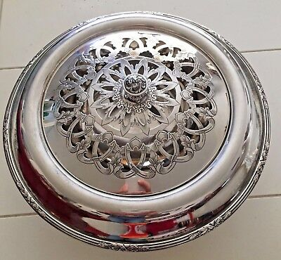 VINTAGE REED AND BARTON 2040L SILVERPLATE Floral Frog Flower LE Number 115/315