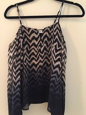 3dc07a94b4fc2 SUGAR LIPS COLD Shoulder Top Black and White-Large -  5.99