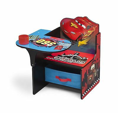 Delta Children Disney Cars Kids Study Playroom Toyroom Chair Desk & Storage Bin