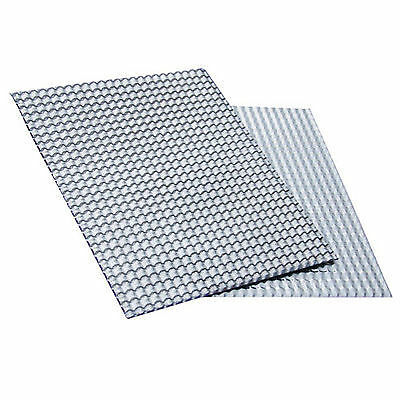 Embossed Aluminum Heat Shield 700mm x 500mm Turbo Manifold Exhaust Electrical