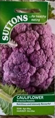 Seeds Suttons Vegetable Cauliflower Di Sicillia Violetto Sow By 7/2019 £3.99