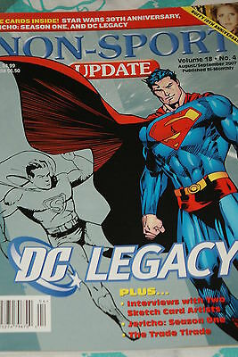 NSU Non Sport Update Magazine DC Legacy Cover vol 18 #4 aug/sep 2007