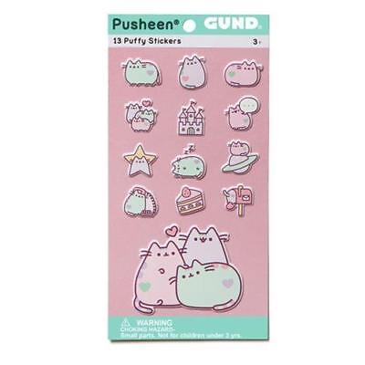 GUND Web Comic Licensed DELUXE 13pc PUSHEEN the Cat Puffy PASTEL Sticker Set