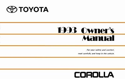 1985 toyota rwd corolla owners manual user guide reference operator rh picclick co uk 93 toyota corolla owners manual 1992 toyota corolla owners manual