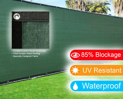 6'x50' Dark Green Fence Privacy Screen Windscreen Shade Cover Mesh Fabric Cloth