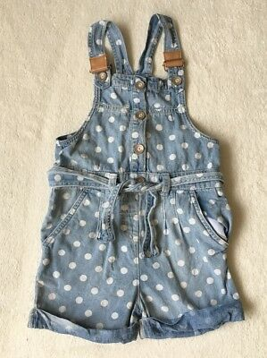 ***Next girls Blue Denim playsuit dungarees 3-4 years VGC***