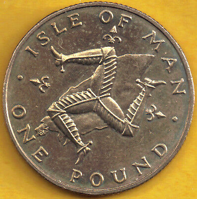 Isle of Man 1978 Percy's £1 One Pound Coin Triskeles uncirculated MM AC sealed