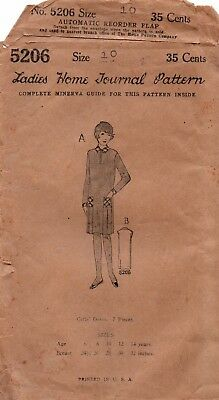 Sewing Pattern 1920s Ladies Home Journal Girls Fashion Flapper Dress Size 10