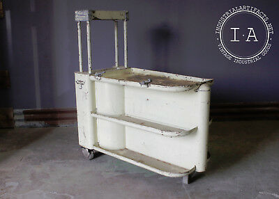 Art Deco Automotive Blackhawk Porto Power Rolling Bar Cart