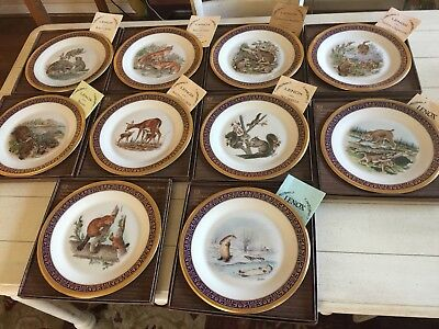 LENOX Boehm Woodland Wildlife Plates Original inner boxes/3outer boxes/10 plates