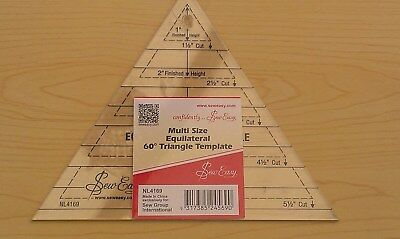 New- Laser Cut Multi Size Equilate Triangle Template - Patchwork Quilting Craft