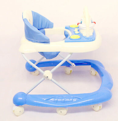Baby Walker blue  Activity First Steps Music Melody  blue