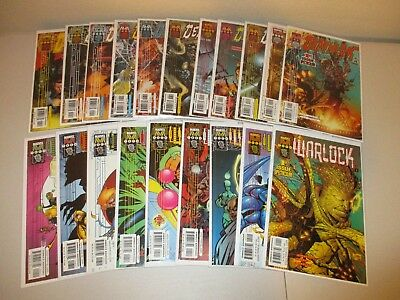 Deathlok #1-11 + Warlock #1-9  (Both Full Series, Lot of 20)  1999 Marvel Tech