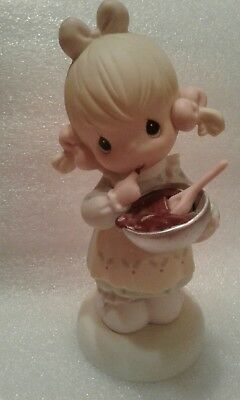 """1998 precious moments figurine """"You can always fudge a little during the season"""""""