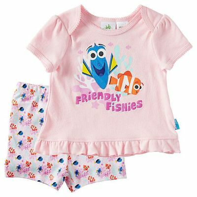 Baby Girls size 000 0 -3 months Dory Nemo summer pyjamas pjs NEW