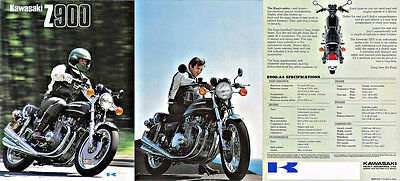 Z1 KZ New  kawasaki Z 900 A4 Z900 fold out sales brochure