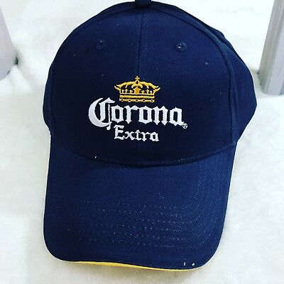 NEW OFFICIALLY LICENSED Embroidered CORONA EXTRA BASEBALL CAP Navy Blue Hat Beer
