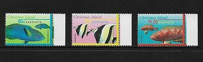 CHRISTMAS ISLAND - mint 1997 Marine Life Part III, Fish, No.3, set of 3, MNH MUH