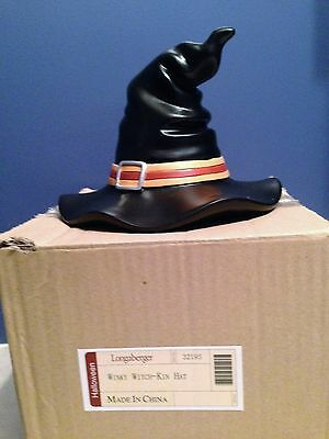 "Longaberger Wicky Witch-Kin Hat Halloween Resin 6"" Tall October Decoration NIB"