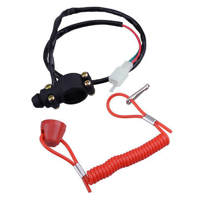 Outboard Engine Motor Scooter Boat Kill Stop Switch Safety Tether Cord Lanyard