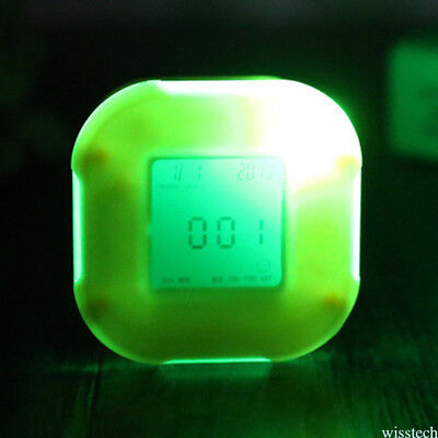 Brand New Glowing  LED Color Change Digital Glowing Alarm Thermometer Clock