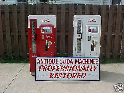 Two Professionally Restored Cavalier 72 Coca-Cola Coke Machines for one price