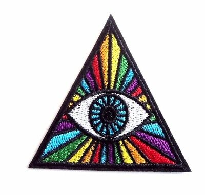 1x Third Eye Hippie Patches Embroidered Cloth Applique Badge Iron Sew On Punk