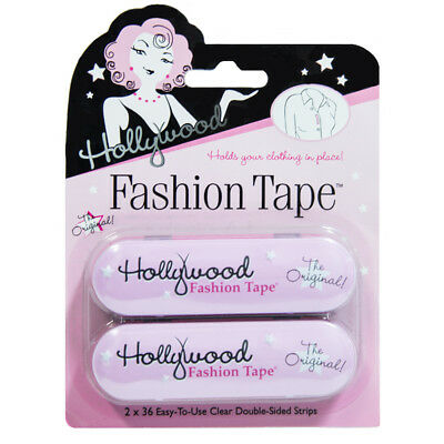 Hollywood Fashion Tape Value Pack 72 Strips - Clear double-sided body tape