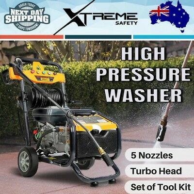 3 Lances 8HP 4800PSI High Pressure Washer Cleaner Petrol Water Gurney 30m Hose