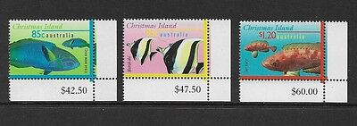 CHRISTMAS ISLAND - mint 1997 Marine Life Part III, Fish, No.4, set of 3, MNH MUH