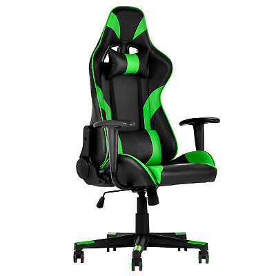 Executive Gaming Racing Chair Reclining Computer Chair High Back Office Green