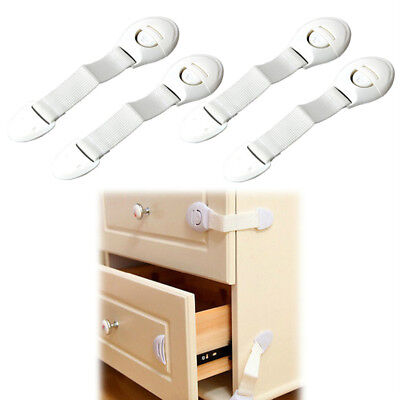 10Pcs Baby Safety Cabinet Door Cupboard Drawer Handles Lock Children Security