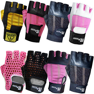 Weight Lifting Gloves Leather Body Building Gym Fitness Gloves Ladies, Mens