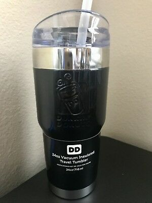 DUNKIN DONUTS 24ozs stainless steel, vacuum insulated tumbler, black , $34