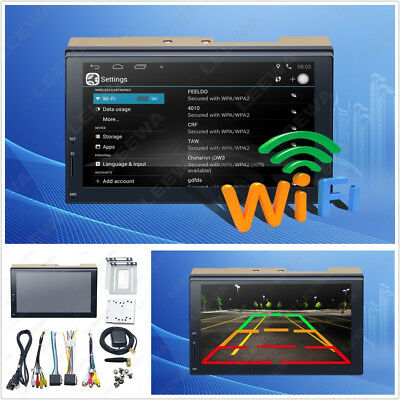 """7"""" 2-Din Touch Screen Autos GPS Stereo Multimedia Player Bluetooth Wifi USB AUX"""