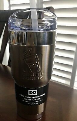 DUNKIN DONUTS 24ozs stainless steel,vacuum insulated tumbler, gold/or copper $34