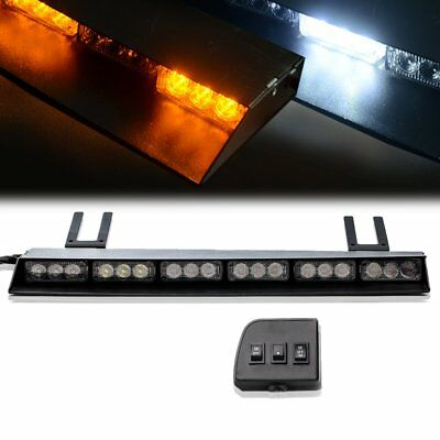 "36 LED 19"" Traffic Advisor Emergency Warning Directional Strobe Light Bar YELLOW"