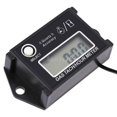 Digital LCD Tach Hour Meter Tachometer RPM Tester For 2/4 Stroke Engines UK Q6K3