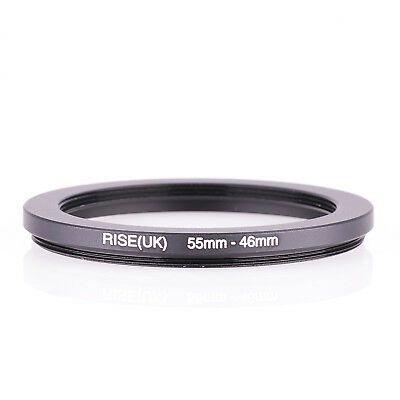 RISE(UK) 55-46MM 55 MM- 46 MM 55 to 46 Step Down Ring Filter Adapter